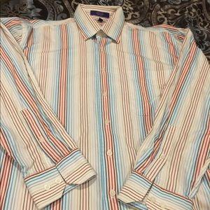 Alan Flusser striped dress shirt